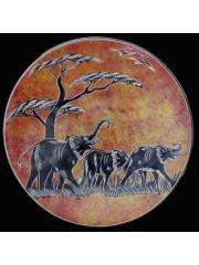 Африканская тарелка с изображением животных из натурального камня категории Ян