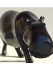 """Африканская статуэтка """"Бегемот""""  из африканского дуба"""