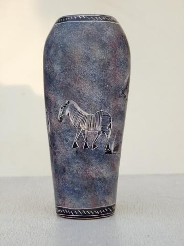 """Африканская ваза из натурального камня """"Зебра"""""""