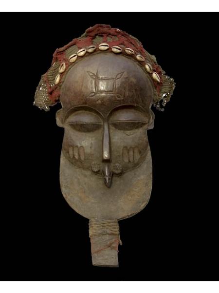 Оригинальная африканская маска Chokwe с ракушками и ручкой