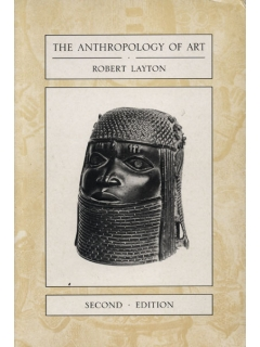Книга Anthropology of Art [Robert Layton]