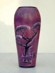 """Африканская ваза из натурального камня """"Жирафы"""""""