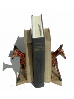 """Подставка для книг (bookend) """"Жирафы"""""""