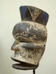 Африканская маска с подвижной челюстью Idiok Ekpo