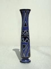 """Африканская ваза из натурального камня серии """"Красное и синее"""""""