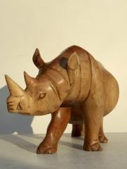 Большая фигурка носорога из дерева высокого качества (31 см)