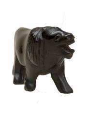 Африканская фигурка льва из дерева чвета черешня размером 14 см