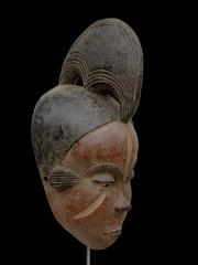 Красивая африканская маска Idoma с красным лицом
