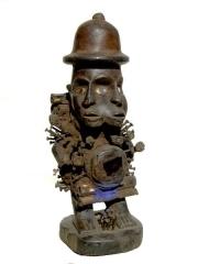 Bakongo фетиш Nkisi Power с двумя лицами