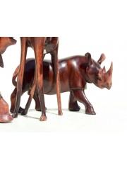Набор фигурок африканских животных из дерева