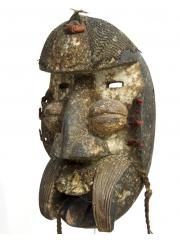 Маска воина народа We из Кот-д'Ивуар