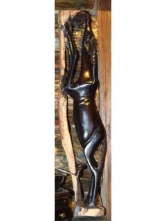 Фигурка черной газели [60x15 см]