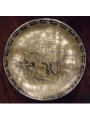 Африканское блюдо с традиционным рисунком из камня талькохлорит категории Ян