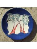 """Африканская тарелка из камня """"Жирафовое небо"""" [36 см]"""