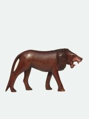 Фигурка африканского льва из дерева, длина 18 см