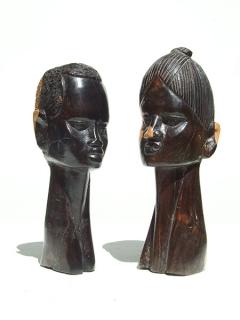 """Статуэтки бюсты """"Пара"""" [Кения], 20 см"""