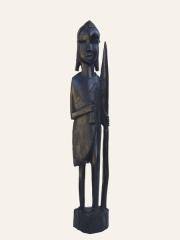 Статуэтка воина из эбенового дерева. Страна происхождения - Кения. Высота 38 см