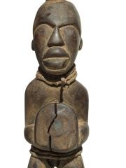 Фетиш Power Horn народности Bakongo из Конго с рогом