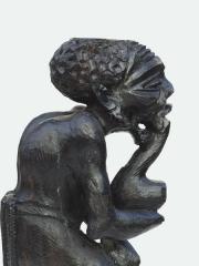 Купить африканскую статуэтку из дерева мужчины курильщика с трубкой