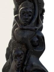 """Статуэтка """"Семейное дерево"""" народности Makonde из эбенового дерева"""