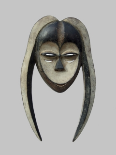 Маска Kwele [Габон, Конго], 35 см