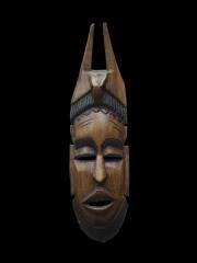 """Настенная африканская декоративная маска из дерева """"Носитель"""""""