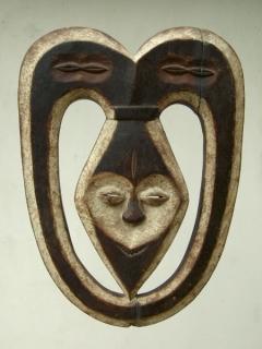 Маска Kwele [Габон], 42 см