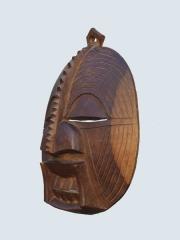 Купить круглую декоративную настенную африканскую маску Luba