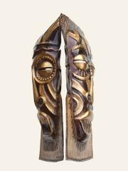 Купить две декоративные настенные маски из металла народности Chokwe