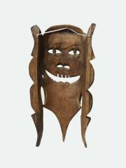 """Деревянная настенная маска из Мозамбика """"Альтер Эго"""""""