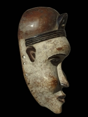 Африканская маска народности Bakongo - аналог известной музейной маски из Бельгии