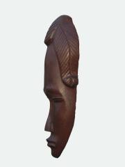 """Купить африканскую декоративную настенную маску из красного дерева """"Возрождение"""""""