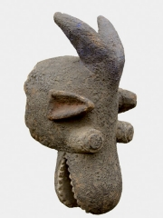 Аутентичная африканская маска шлем народности Mambila