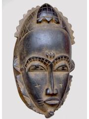 Ритуальная маска народа Бауле (Baule)