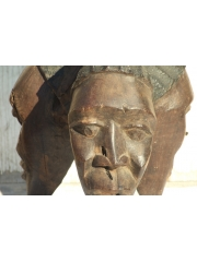 Африканская скульптура из дерева [Тройная чаша]