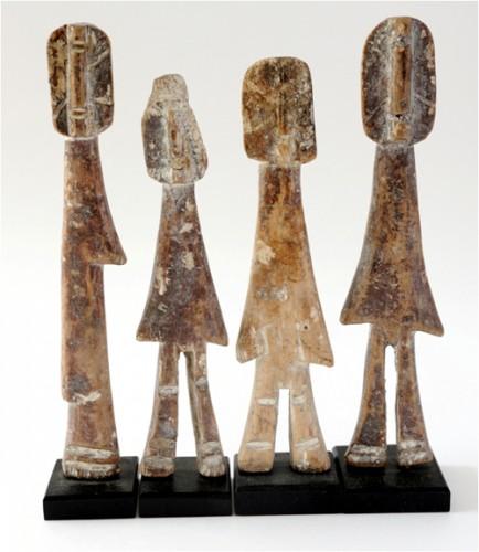 Оригинальные статуэтки народности Adan. Треугольное тело