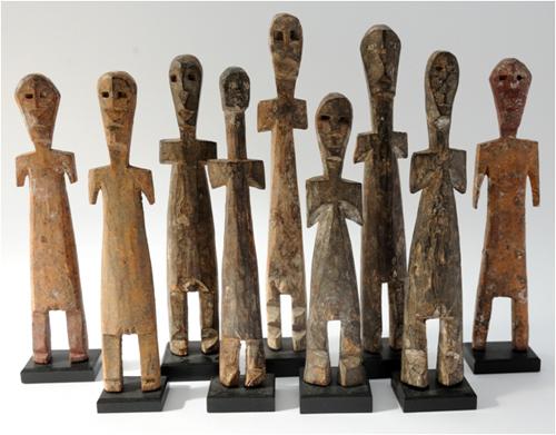 Оригинальные статуэтки народности Adan. Вытянутое тело