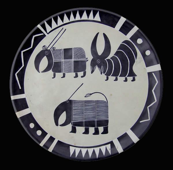 Декоративная африканская тарелка на стену