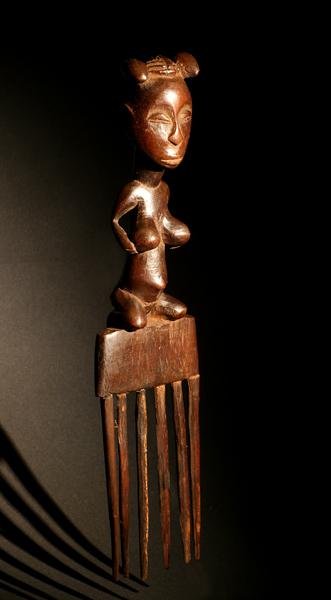 Гребень из Конго племя Luba, символ рождаемости