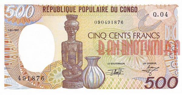 500 франков Конго старого образца