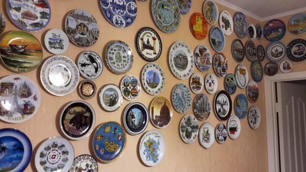 Декоративные тарелки на стену. Часть коллекции