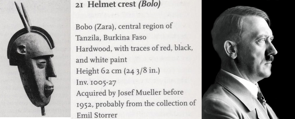 Африканская маски с лицом похожим на Гитлера