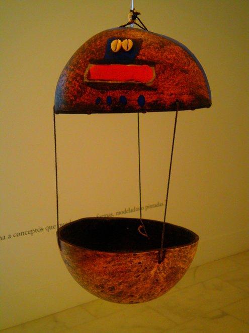 Африканская лампа украсит интерьер