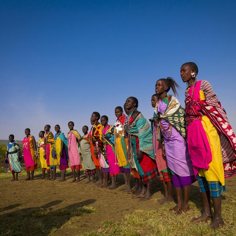 Одежда африканцев племени масаи