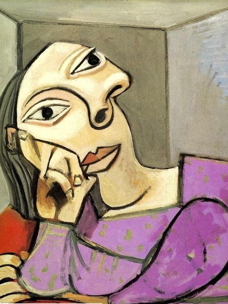 Одна из картин Пикассо, которая напоминает африканские маски Pende