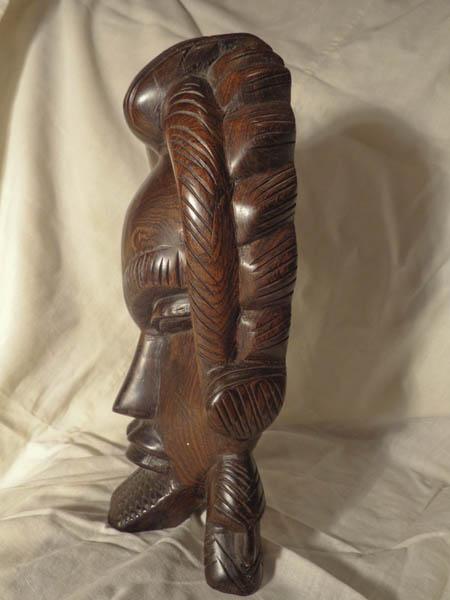 Настольная африканская маска из палисандра