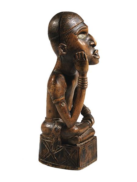 Статуэтка вождя народности Yombe (Африка, Конго). Аукцион Sotheby's