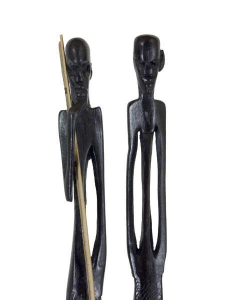 Статуэтки из черного дерева гренадил