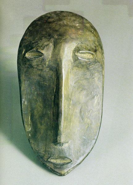 129. Ритуальная маска. Заир, варега. Дерево. Собрание В. И. Коровикова