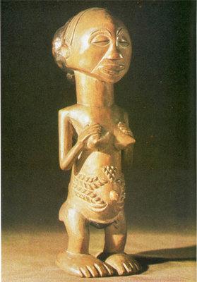 152. Женская фигура. Заир, балуба. Париж, Музей человека